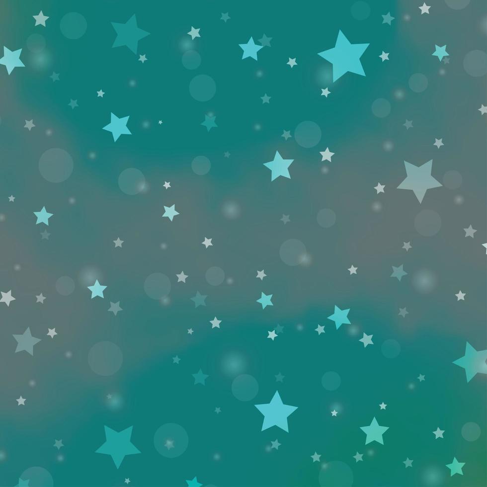 fondo verde claro con círculos, estrellas. vector