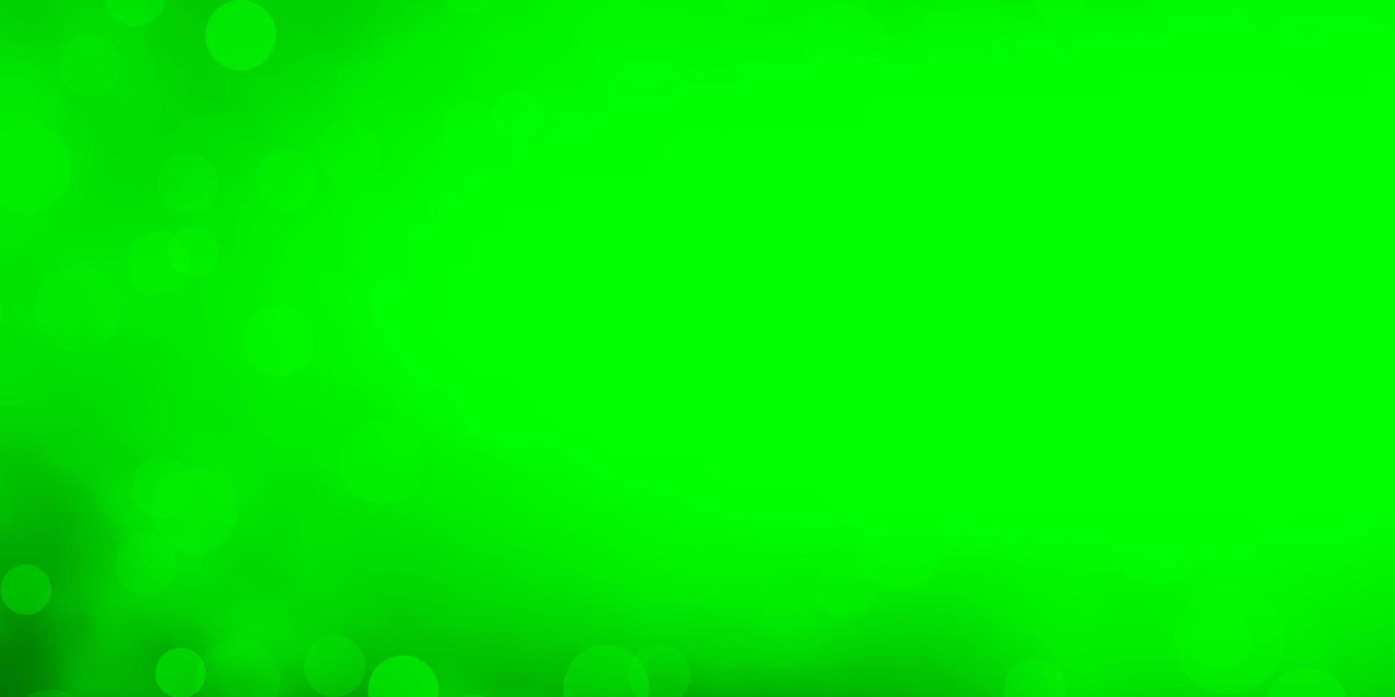 Light Green background with circles. vector