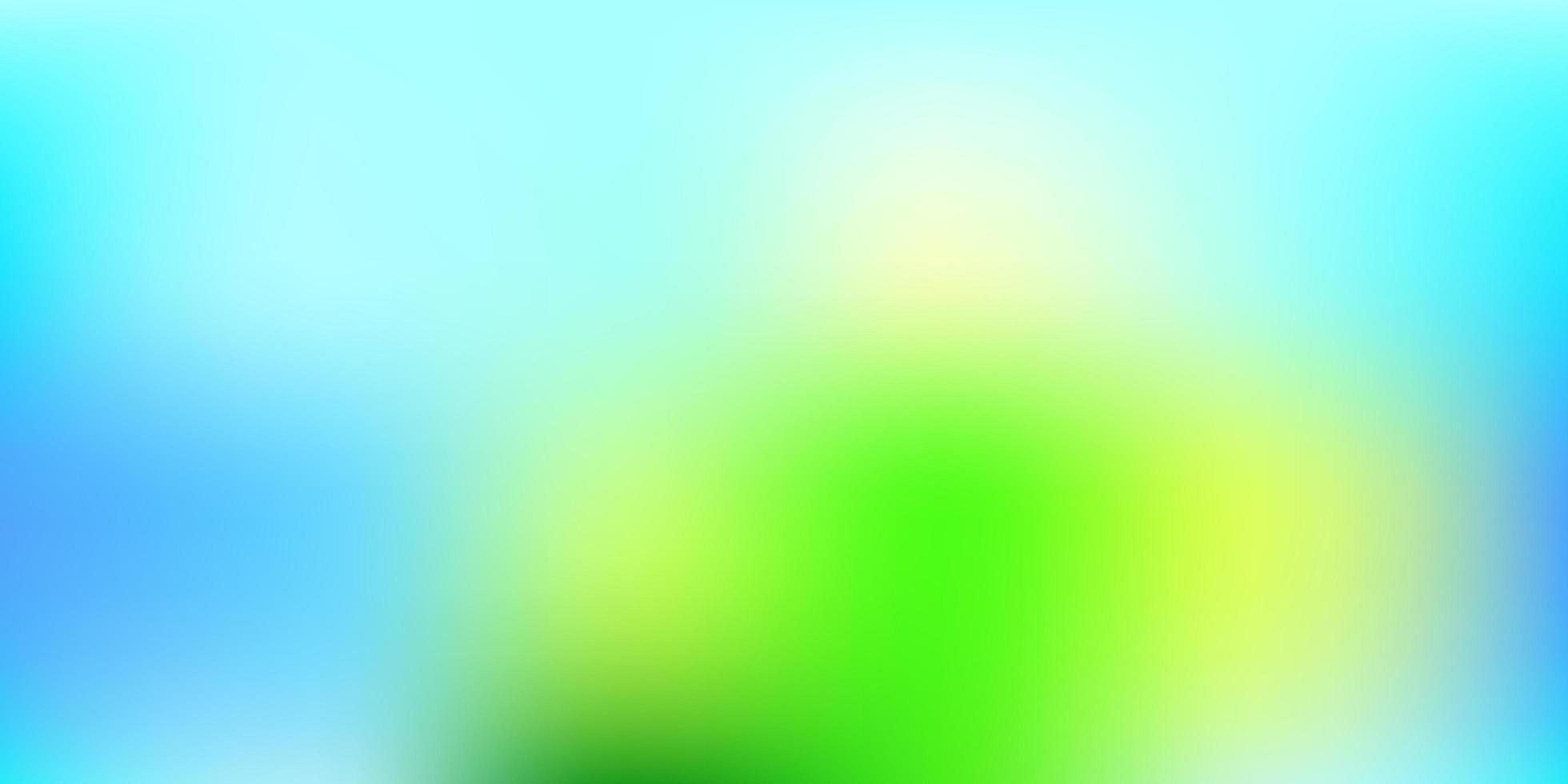 fondo borroso azul claro, verde. vector