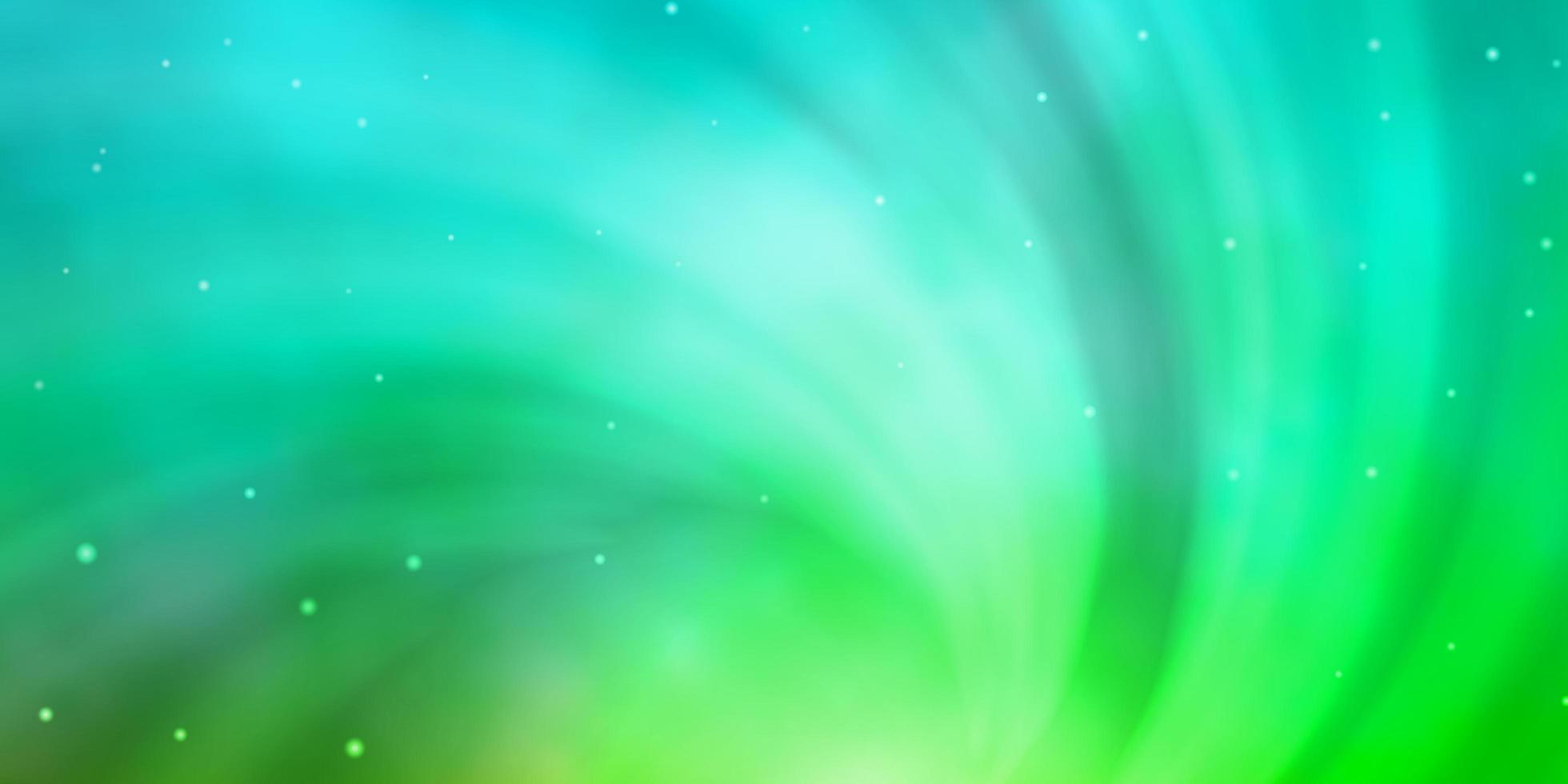 Light Green template with neon stars. vector