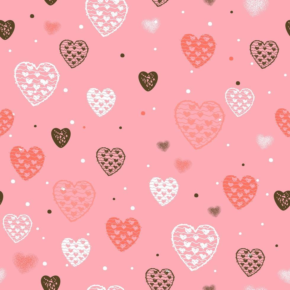 patrón sin fisuras con corazones para el día de san valentín vector