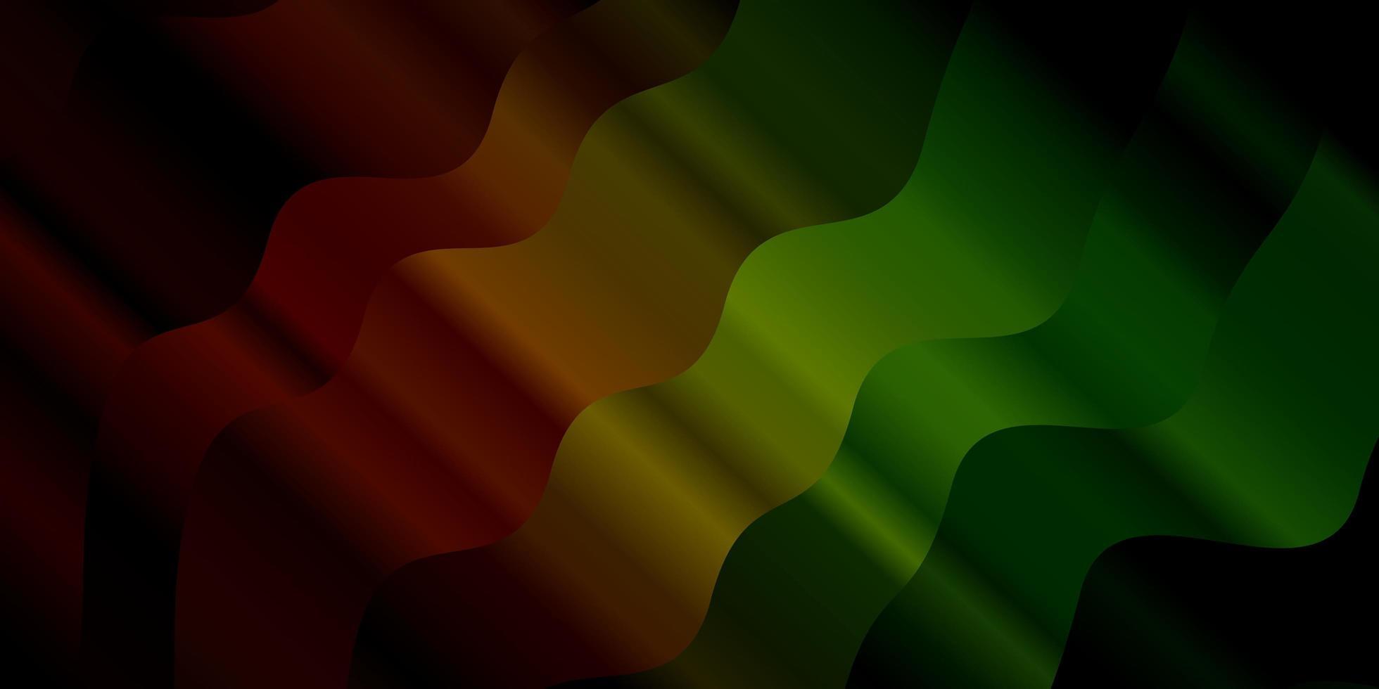 textura verde oscuro, rojo con curvas. vector