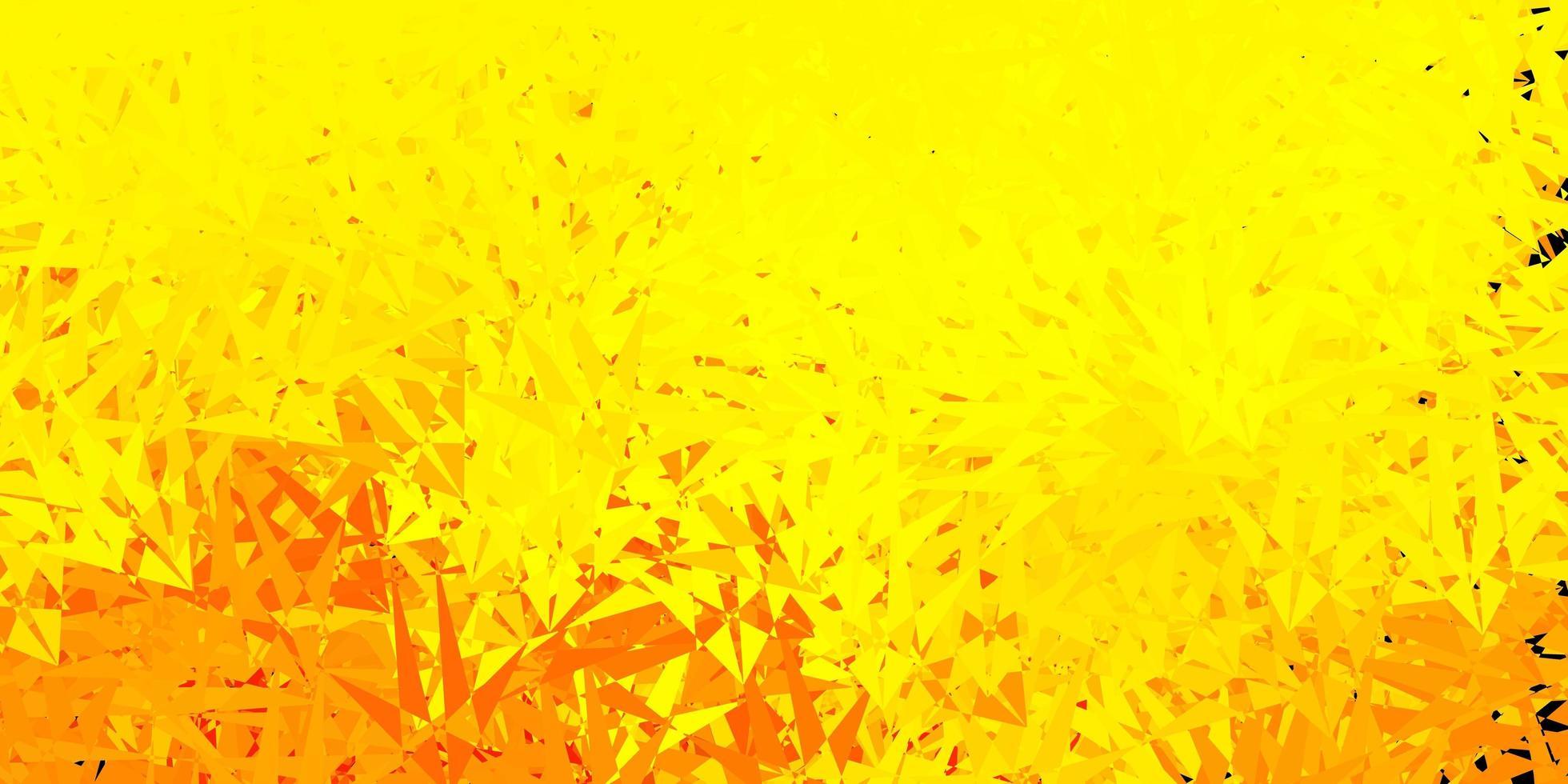 fondo amarillo claro con formas poligonales. vector
