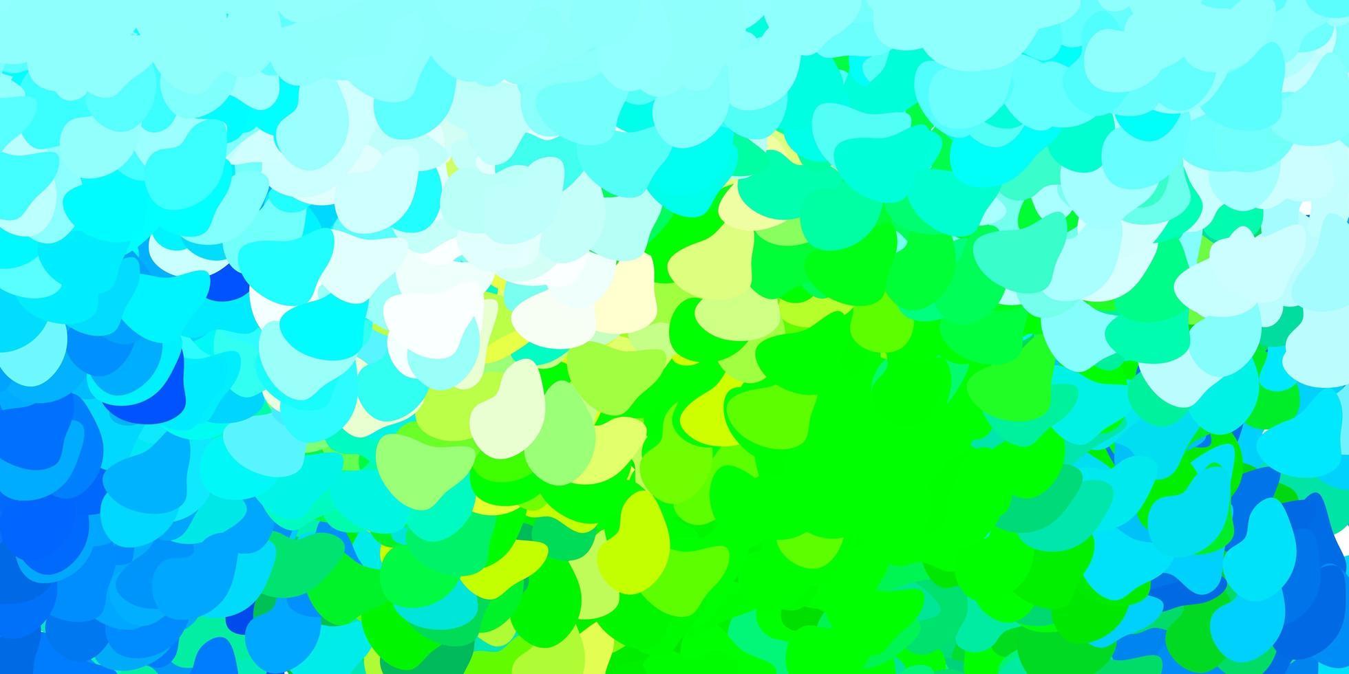 plantilla azul claro, verde con formas abstractas. vector