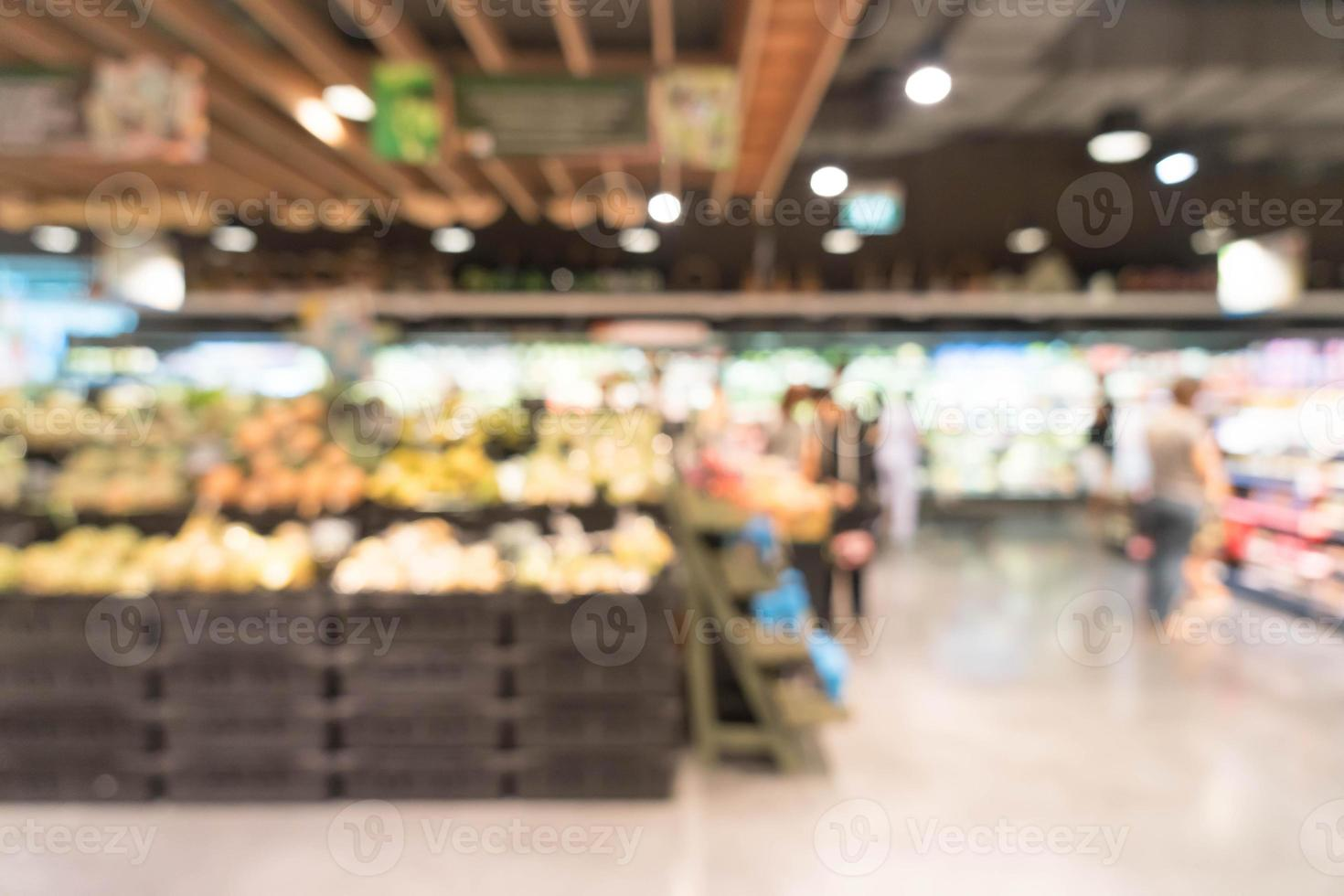 Abstract blurred supermarket background photo