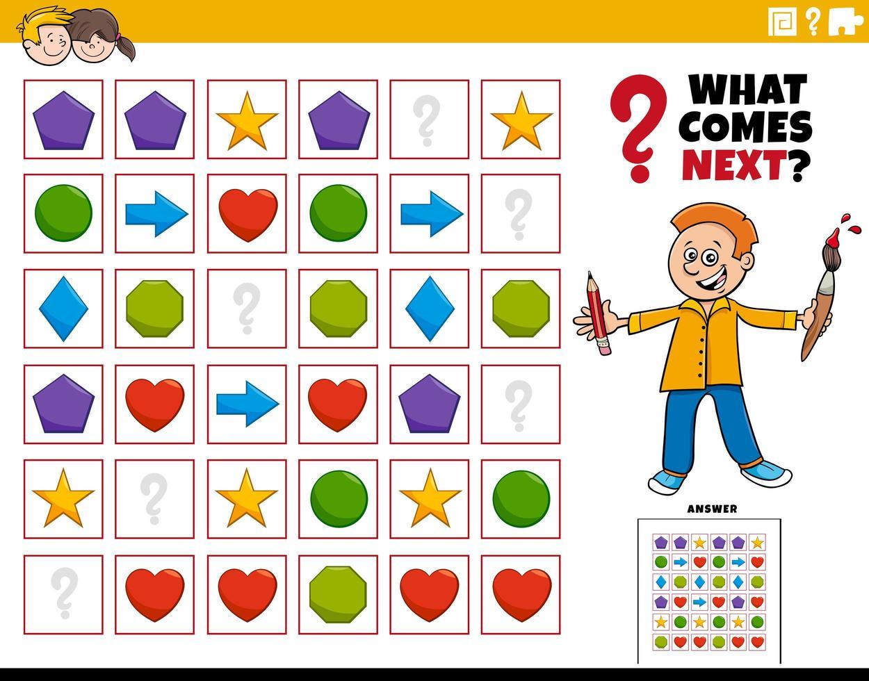 llenar el patrón de juego educativo para niños. vector