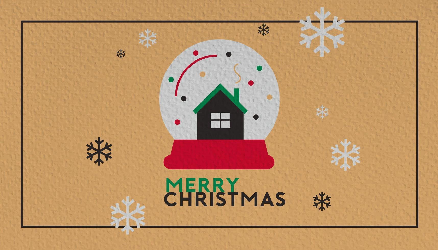 feliz navidad y próspero año nuevo fondo vector