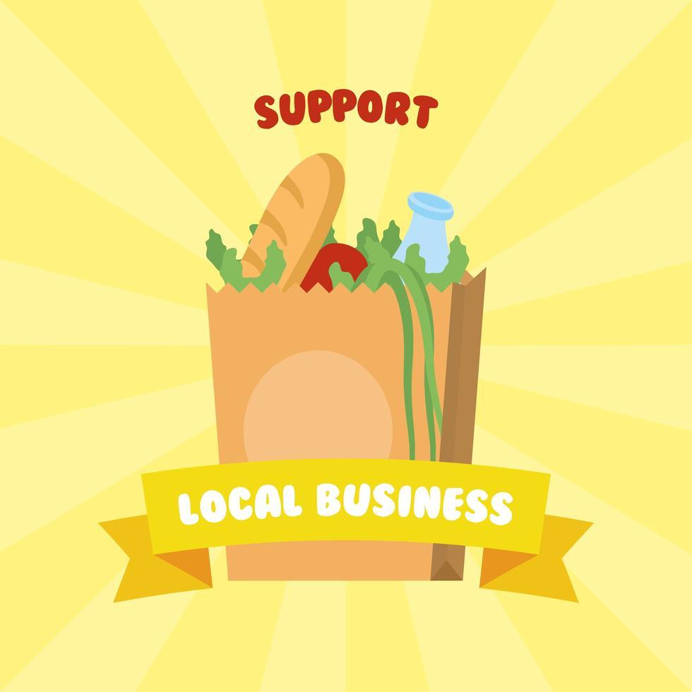apoyar la composición de la campaña comercial local vector