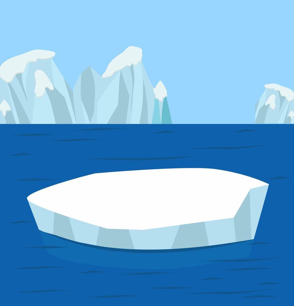 fondo ártico del polo norte vector