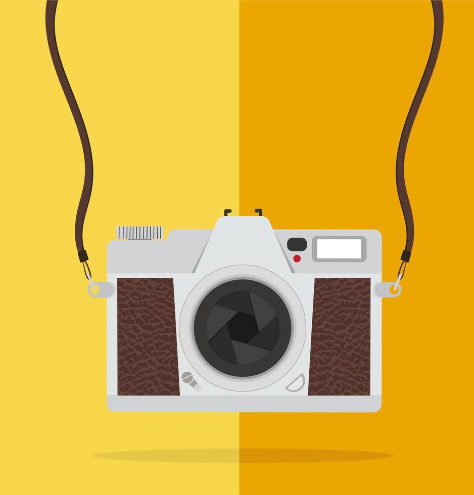 cámara vintage de estilo plano vector