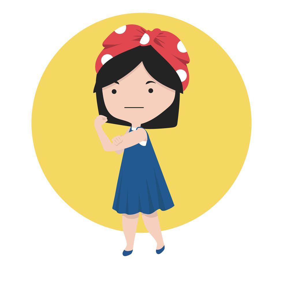 Flexing Small Girl vector
