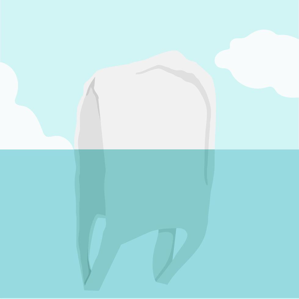 vista submarina de bolsa de plástico vector