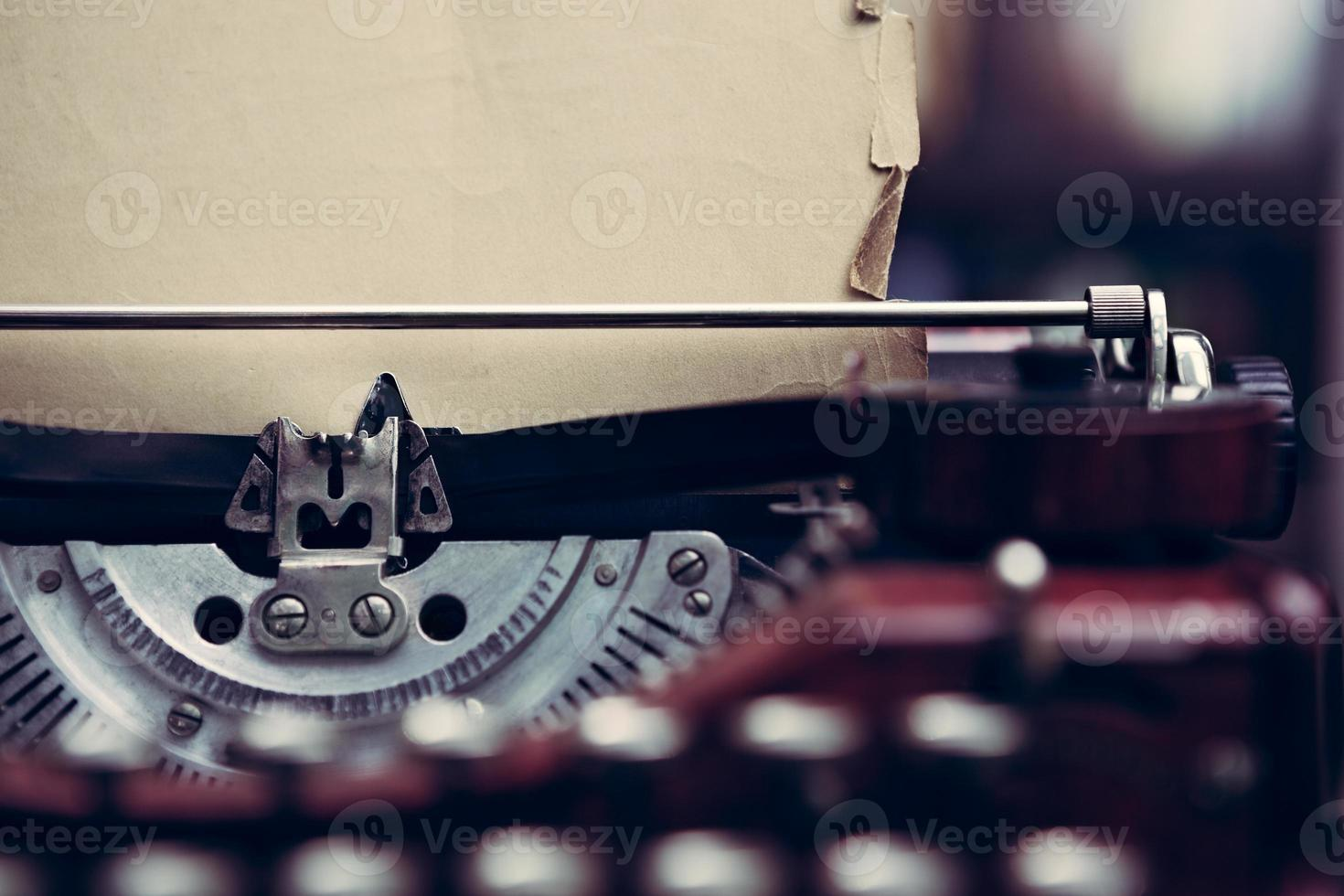 Vintage typewriter in a library photo