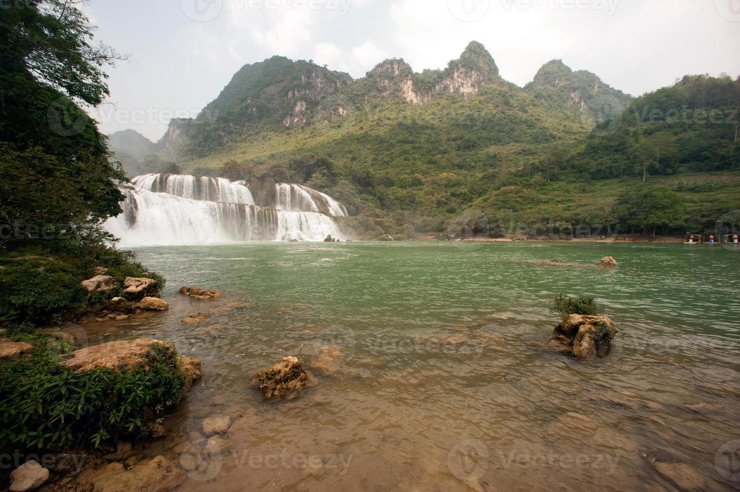 Datian waterfall ( Virtuous Heaven waterfall ) in China. photo