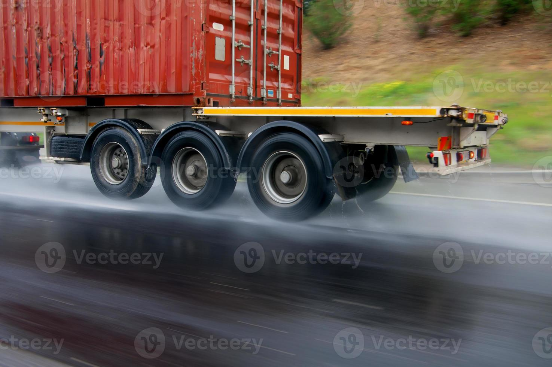Transportation in the rain photo