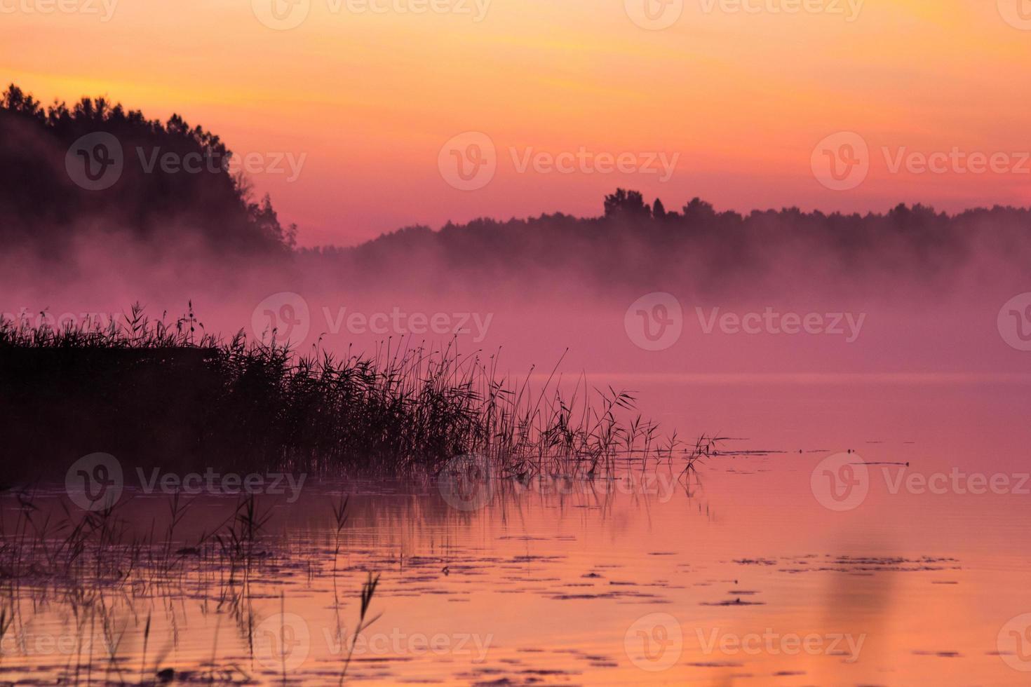 Sunrise over the lake photo