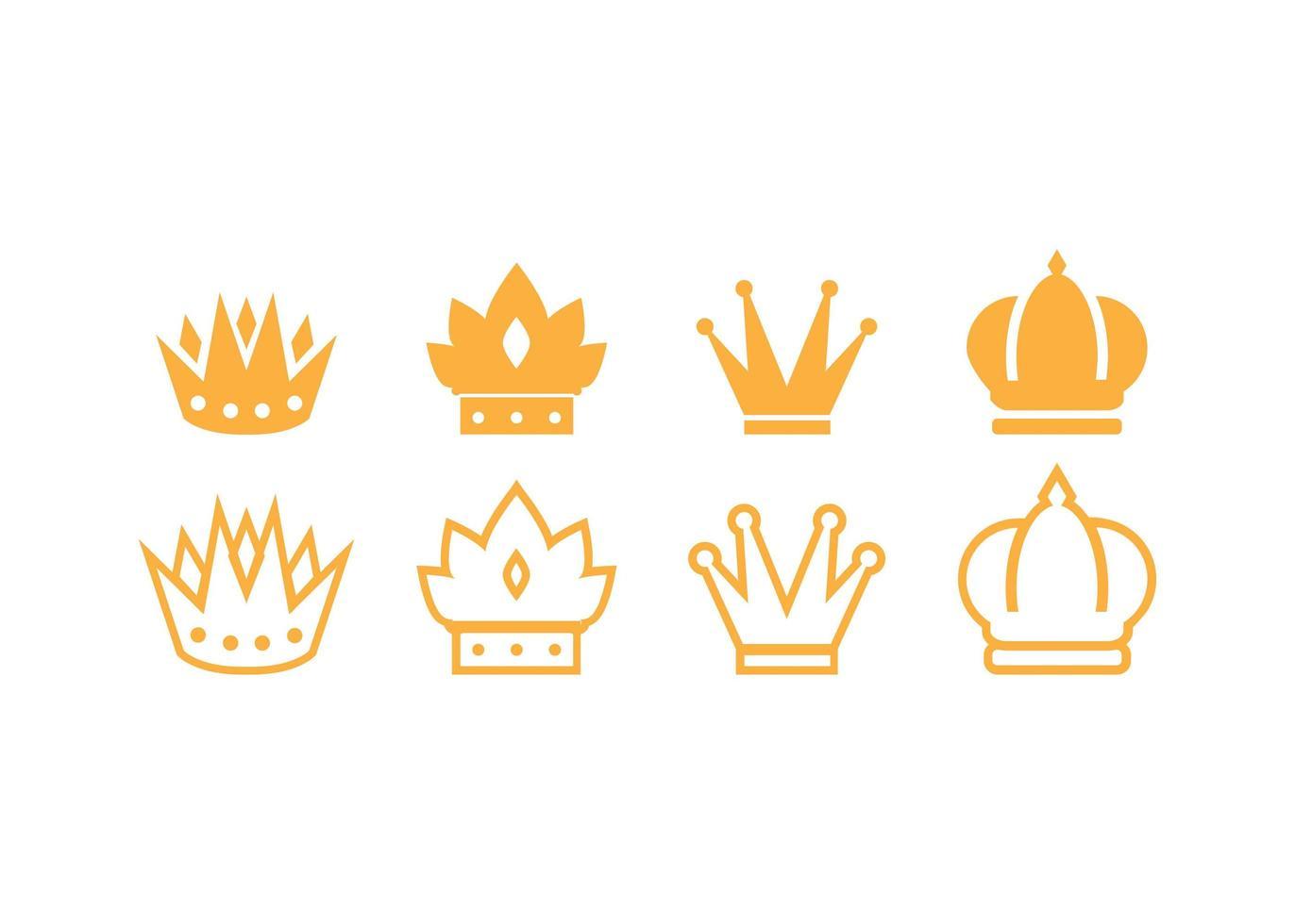 plantilla de diseño de icono de corona vector