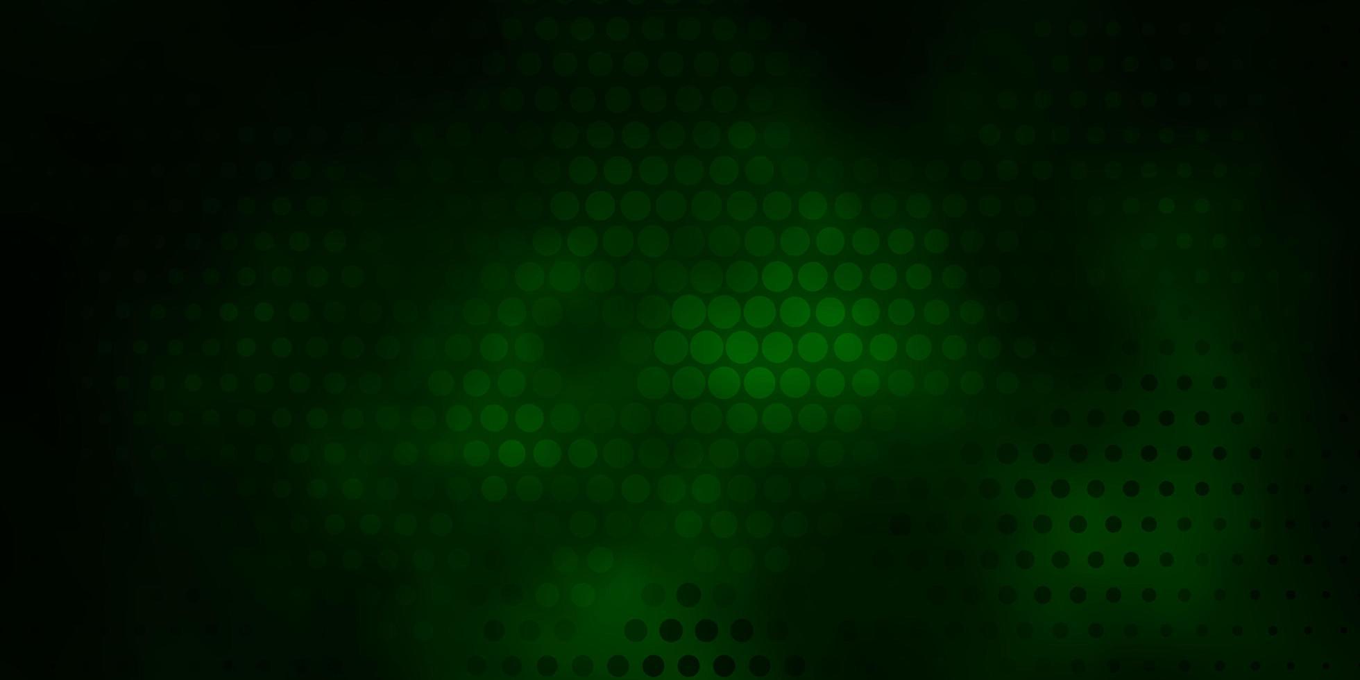 Dark Green pattern with spheres. vector