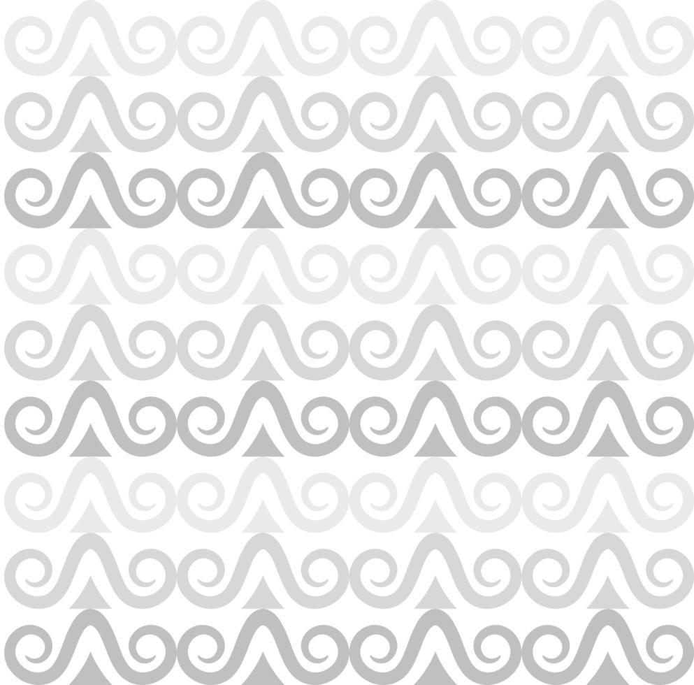 Pattern of gray curls vector