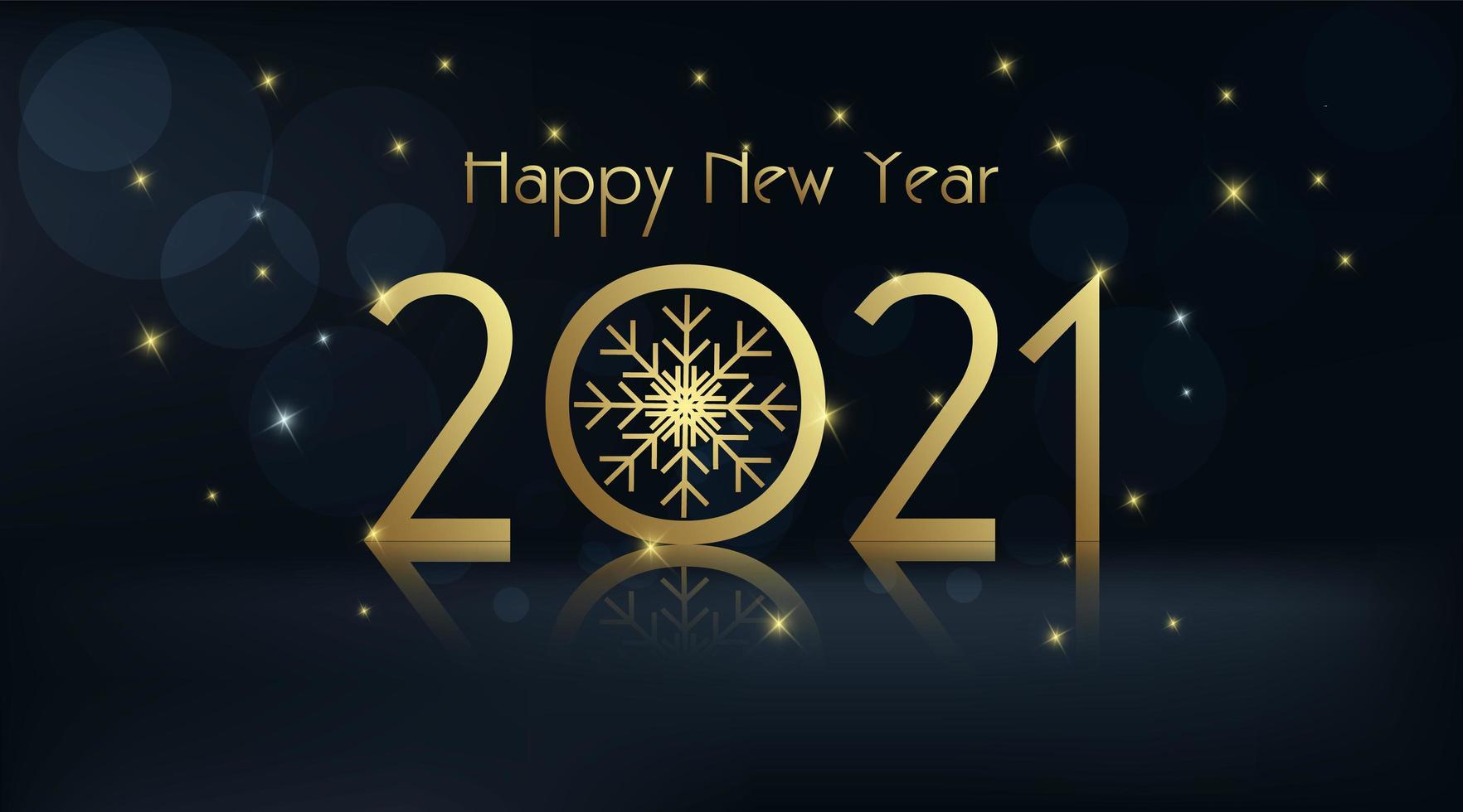 Happy New year 2021 on dark background vector
