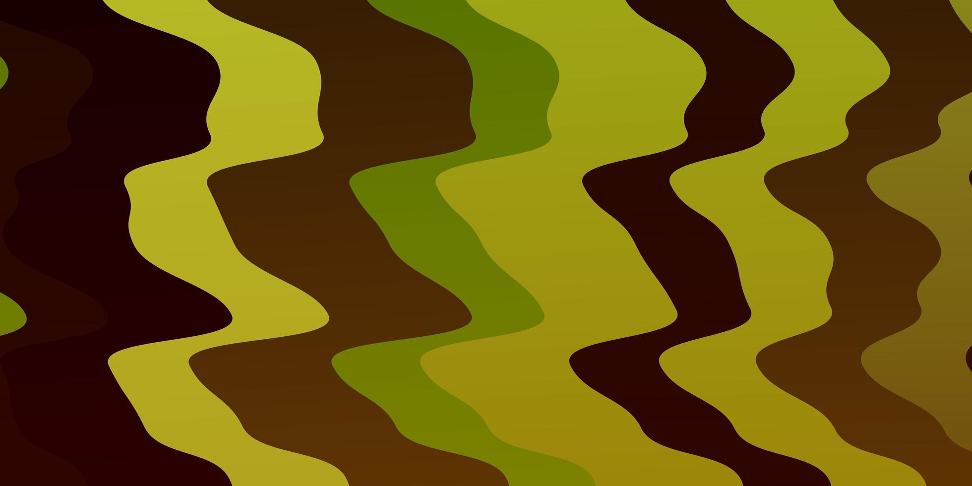 Green background with bent lines. vector
