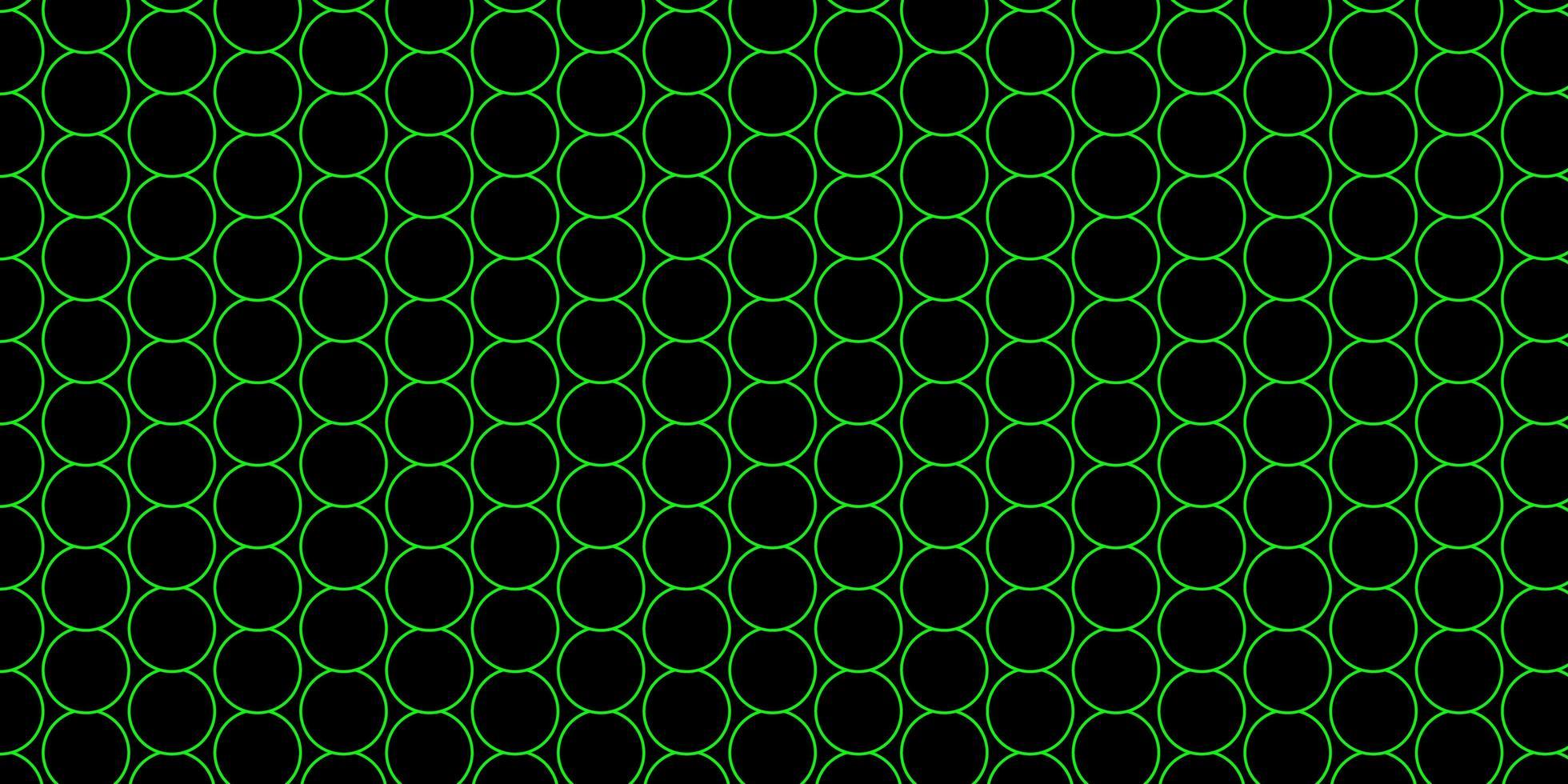 patrón verde oscuro con esferas. vector