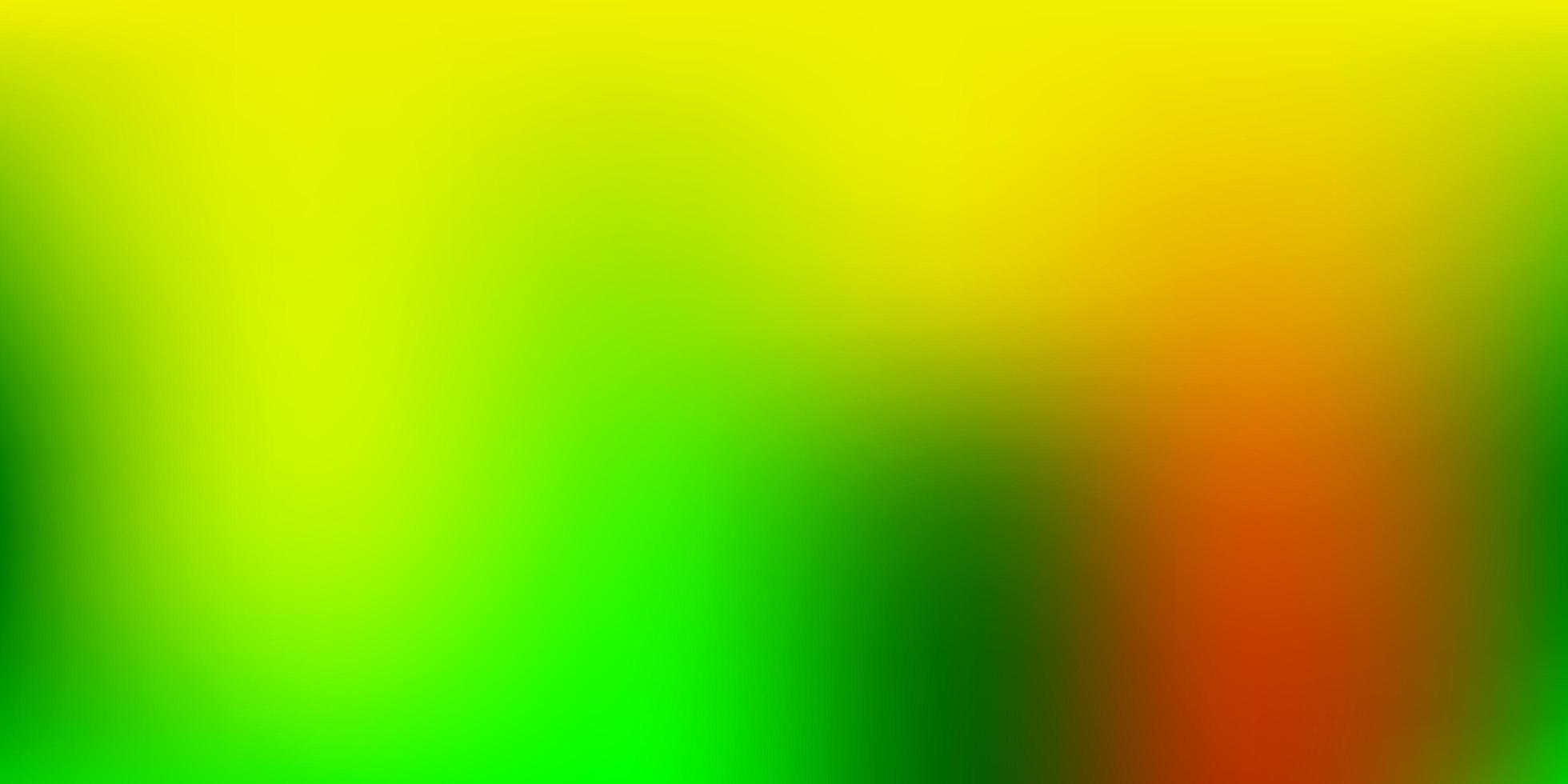 Light Green, Yellow blurred pattern. vector