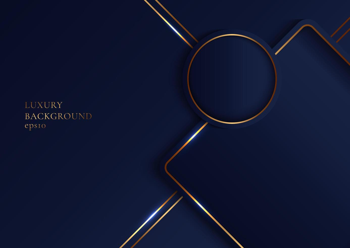 Abstract elegant geometric overlap layers with gold stripes vector