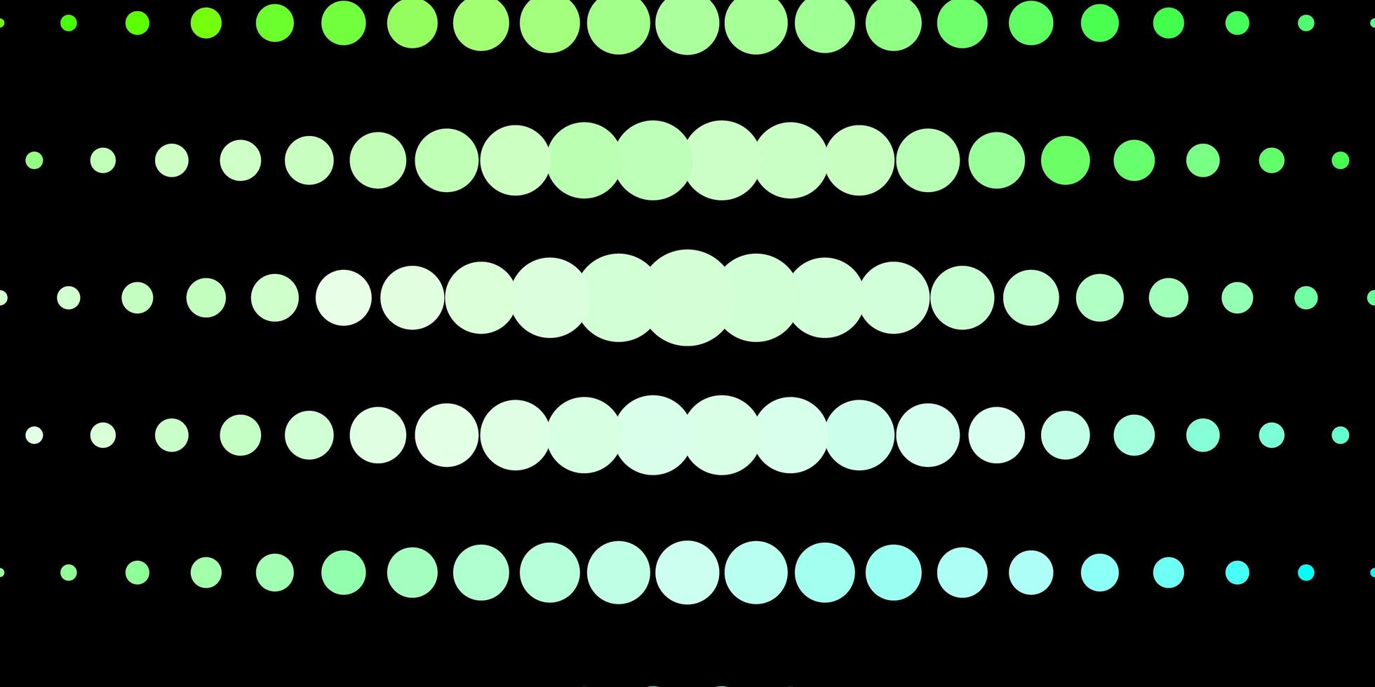 Dark Green template with circles. vector