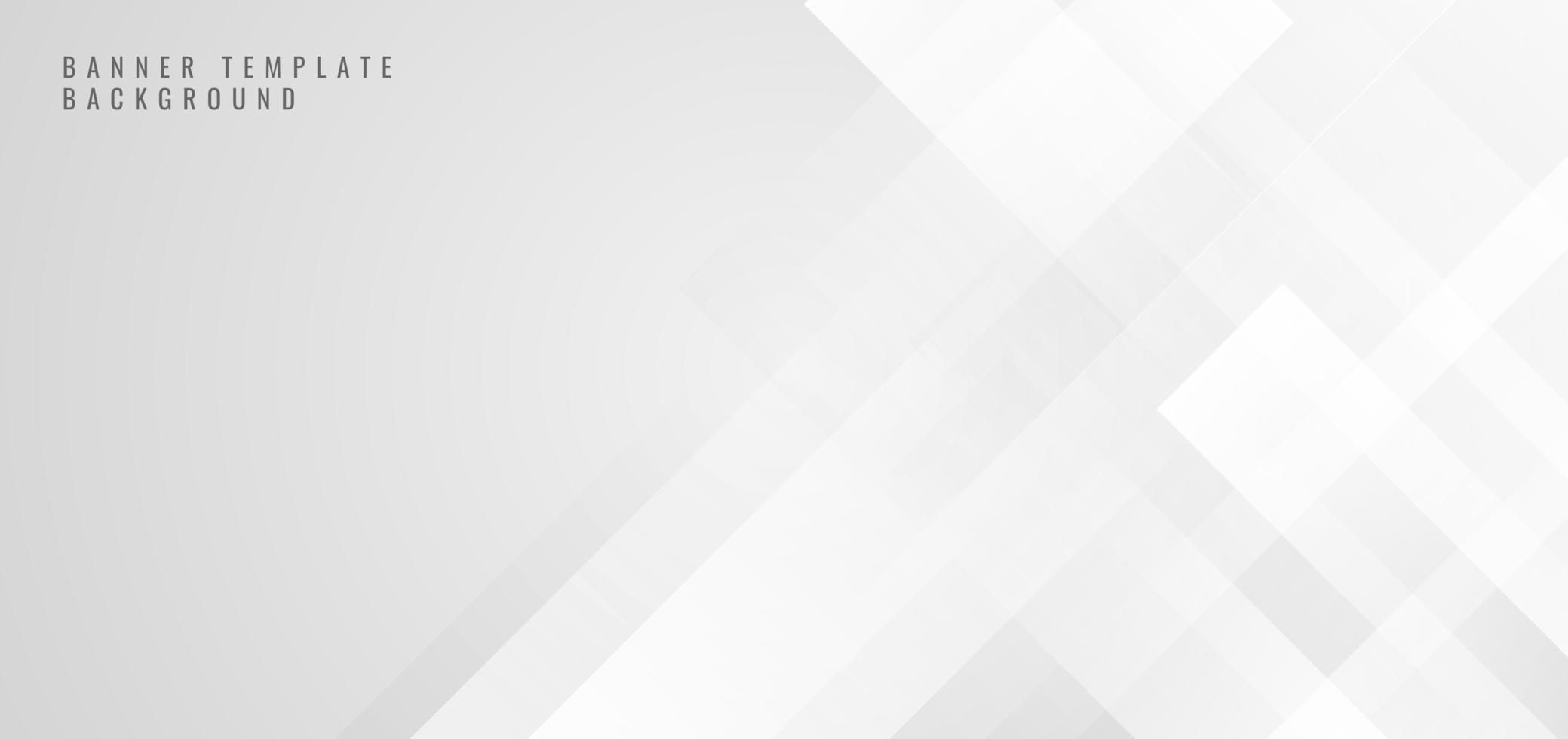 banner web plantilla abstracta forma cuadrada blanca vector