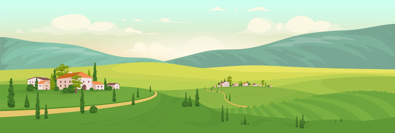 Summer in Italian village vector