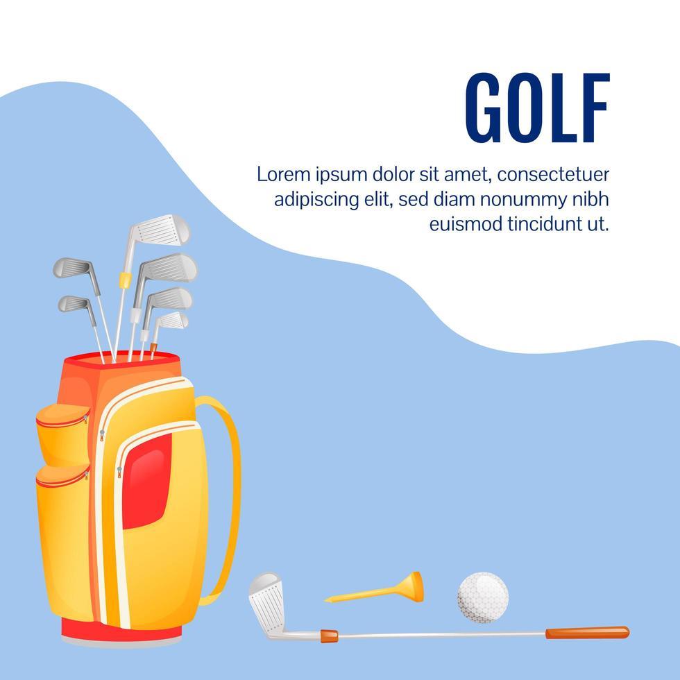 Golf social media post mockup vector
