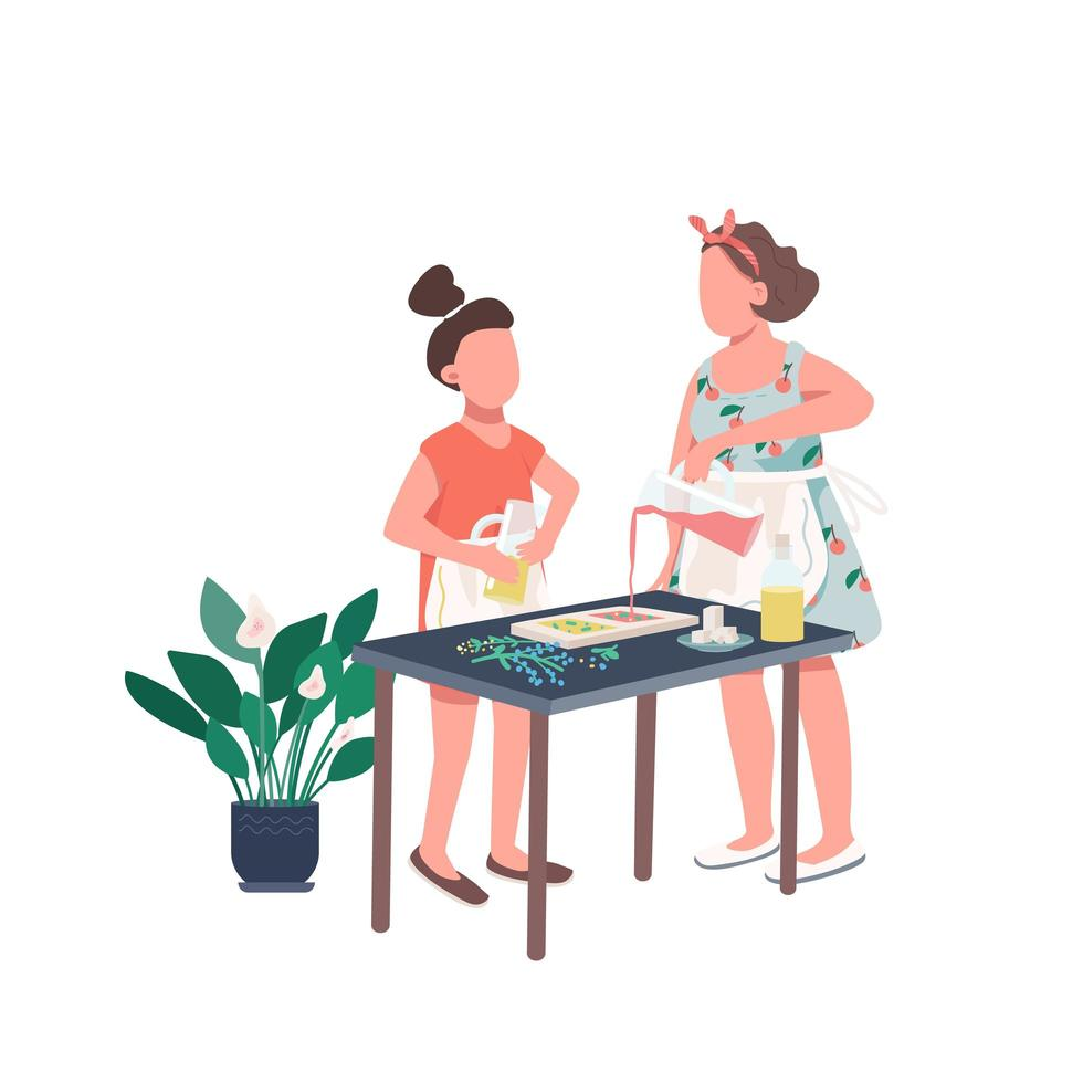 fabricación de jabón familiar vector