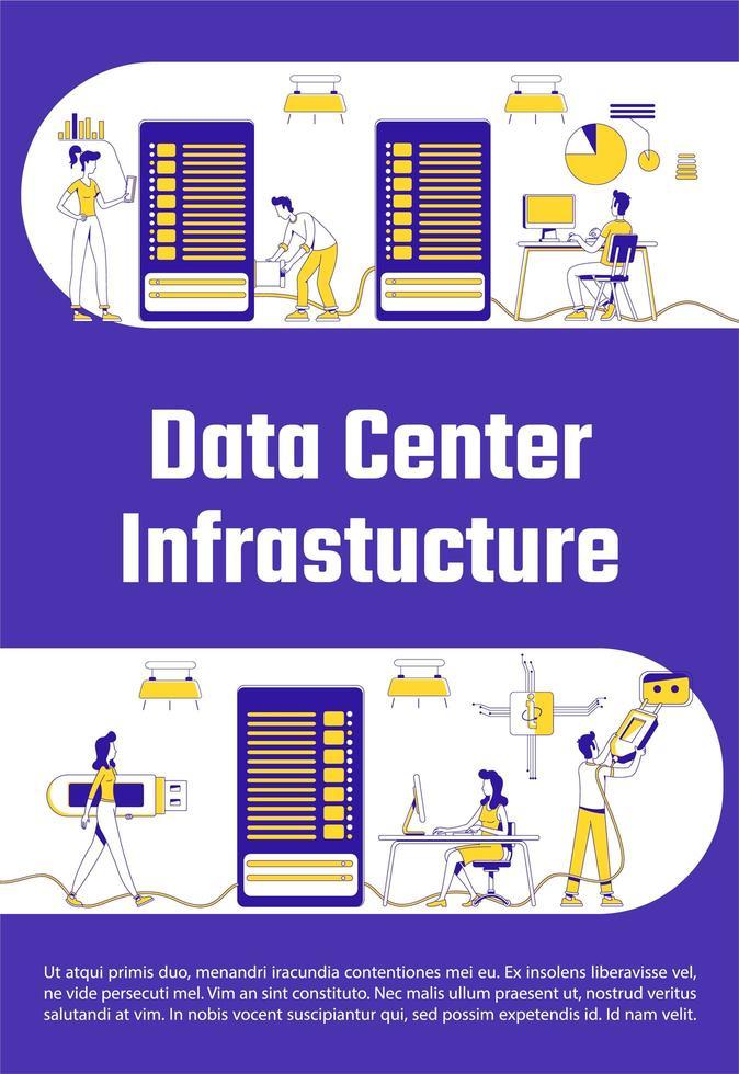 cartel de infraestructura del centro de datos vector