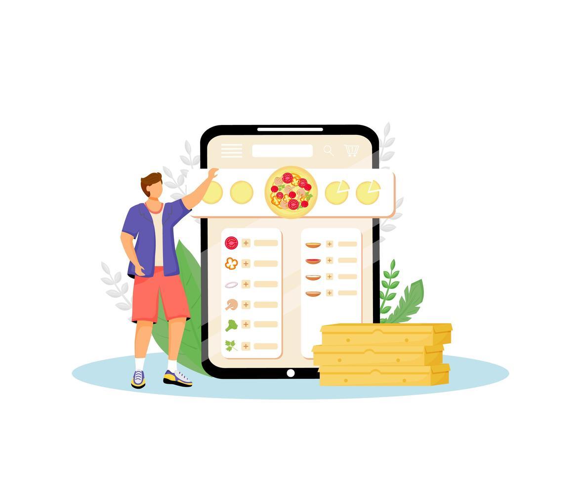 Fast food online ordering vector