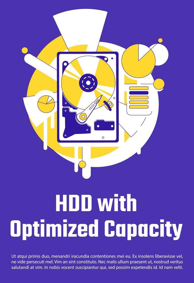 hdd con póster de capacidad optimizada vector