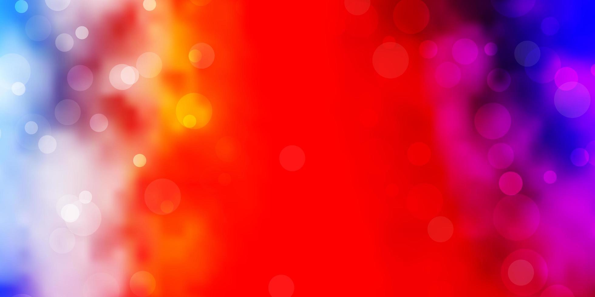 plantilla multicolor con círculos. vector