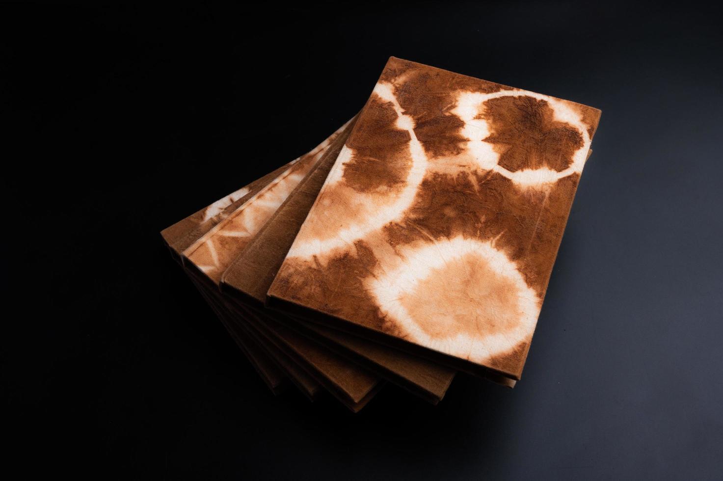 Handmade natural dyed notebooks photo
