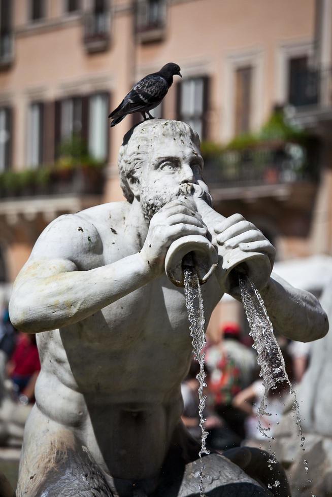 Classical Baroque statue, Roma, Italy photo