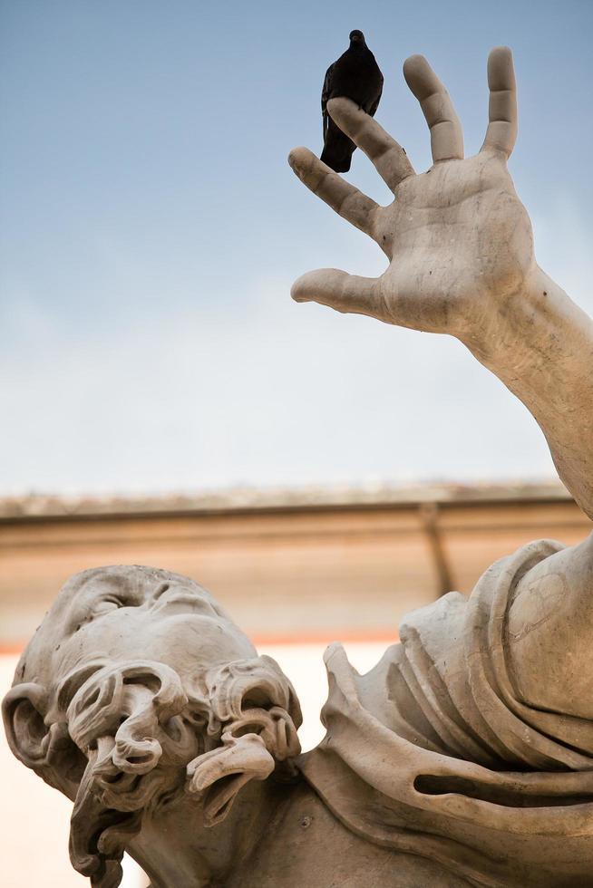 Classic Baroque statue, Roma, Italy photo