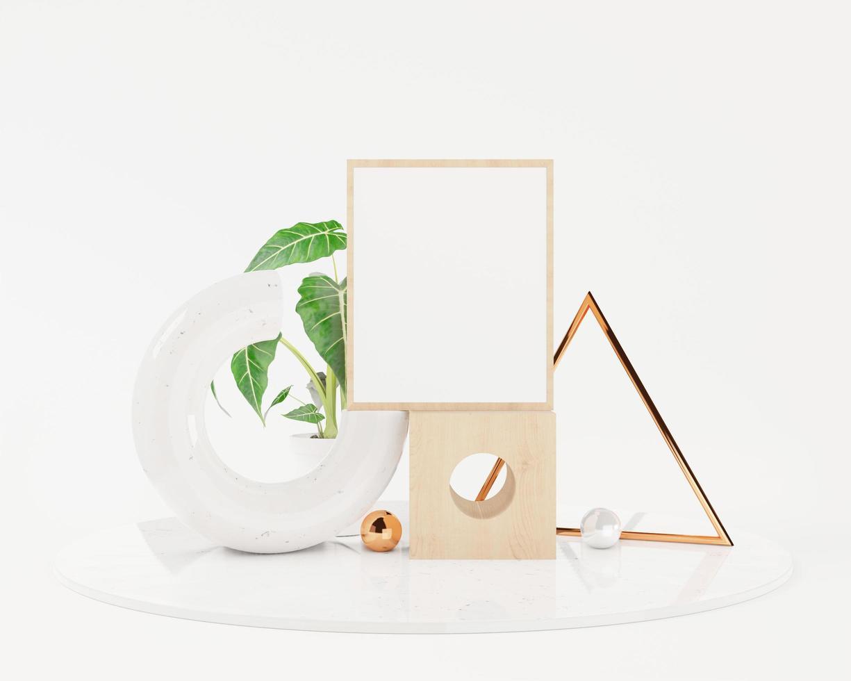 marco simulado abstracto, fondo de podio de forma geométrica foto