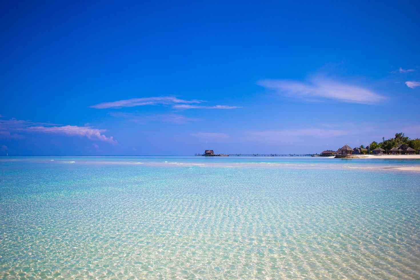 Tropical beach with clear water photo