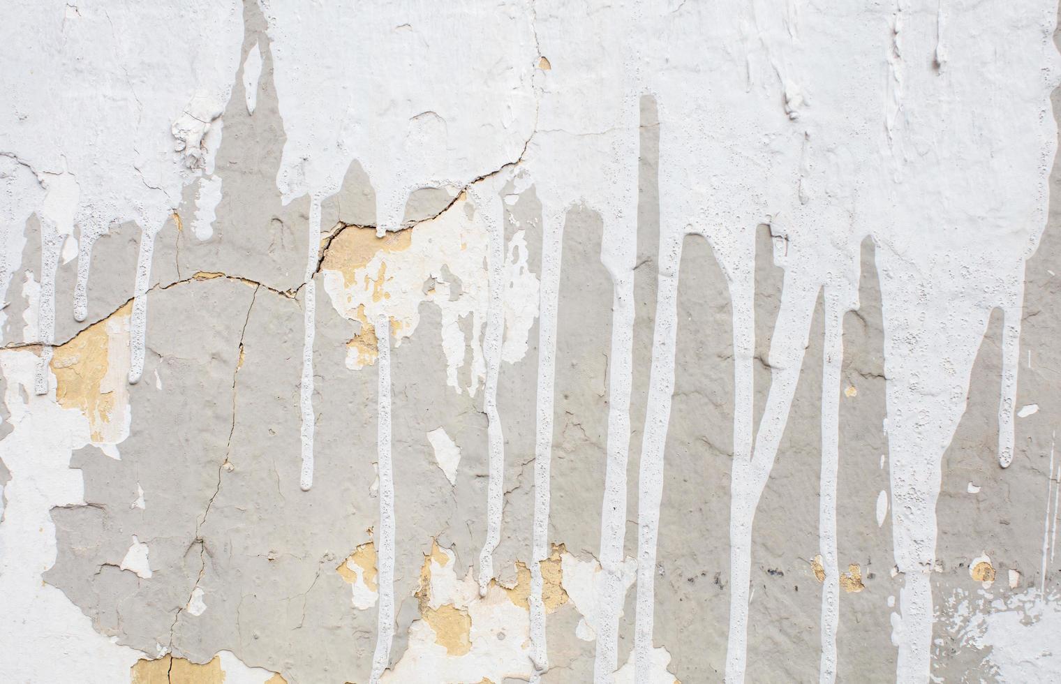 Textura de pared de hormigón con gotas de pintura foto