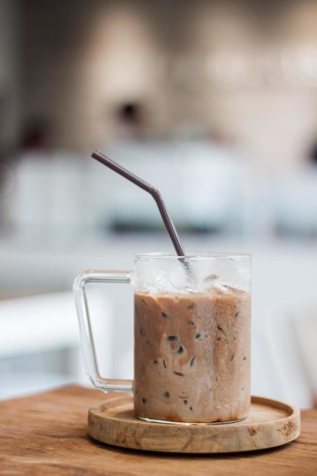 Iced coffee in a coffee shop photo