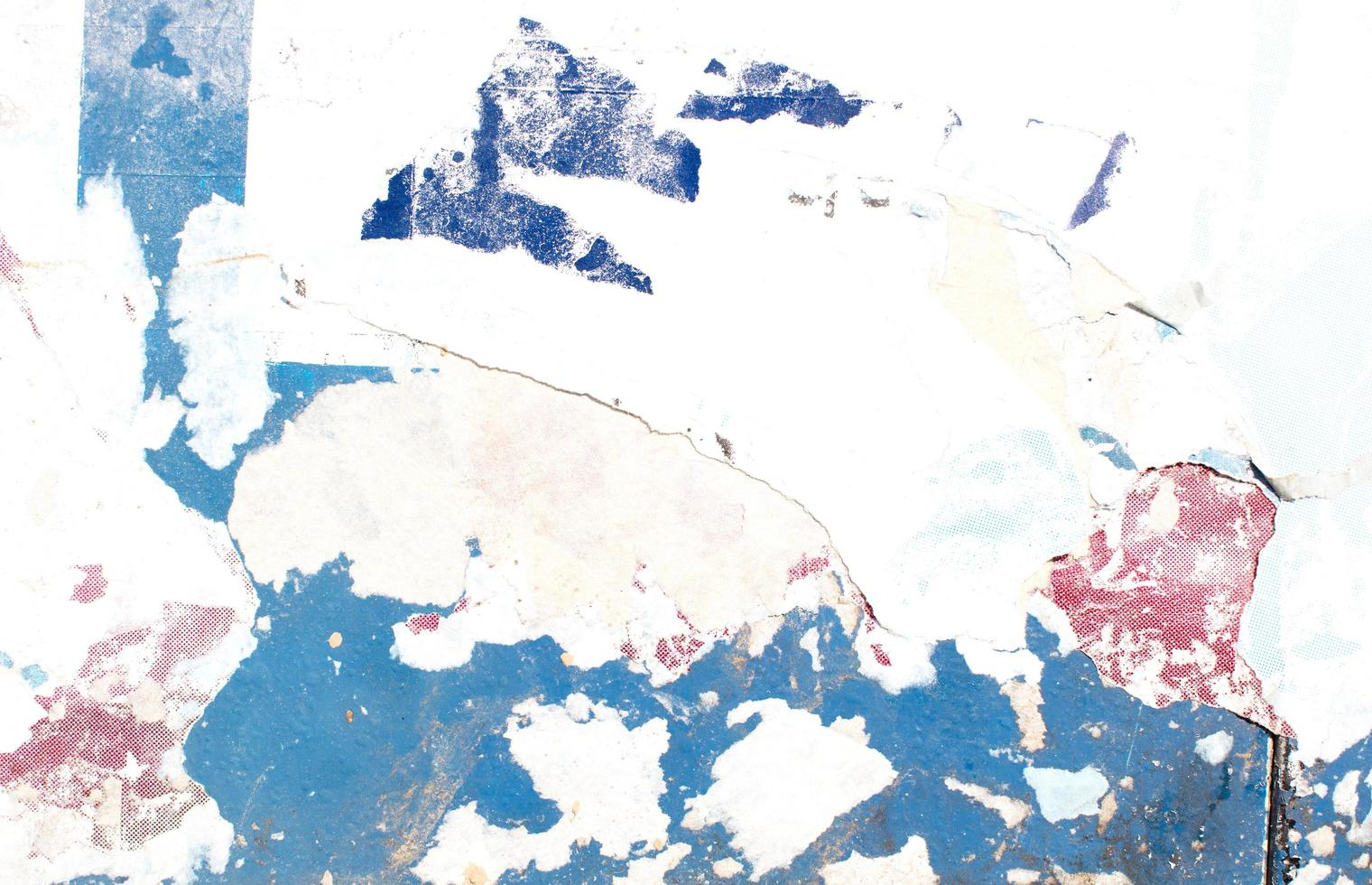 Chipped blue and red paint photo