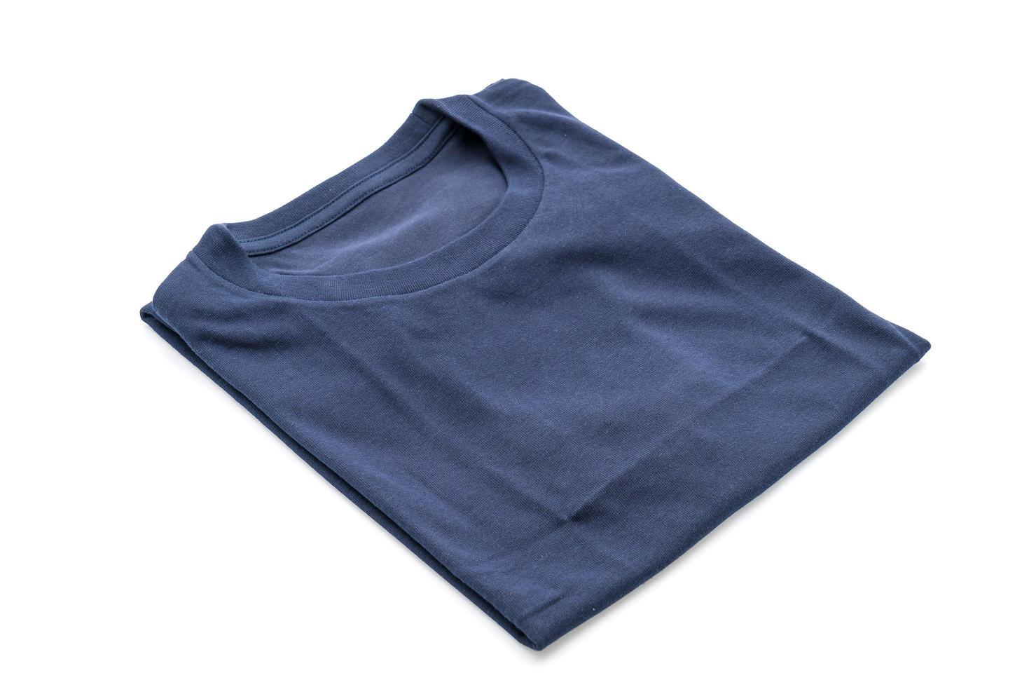 Folded shirt on white background photo