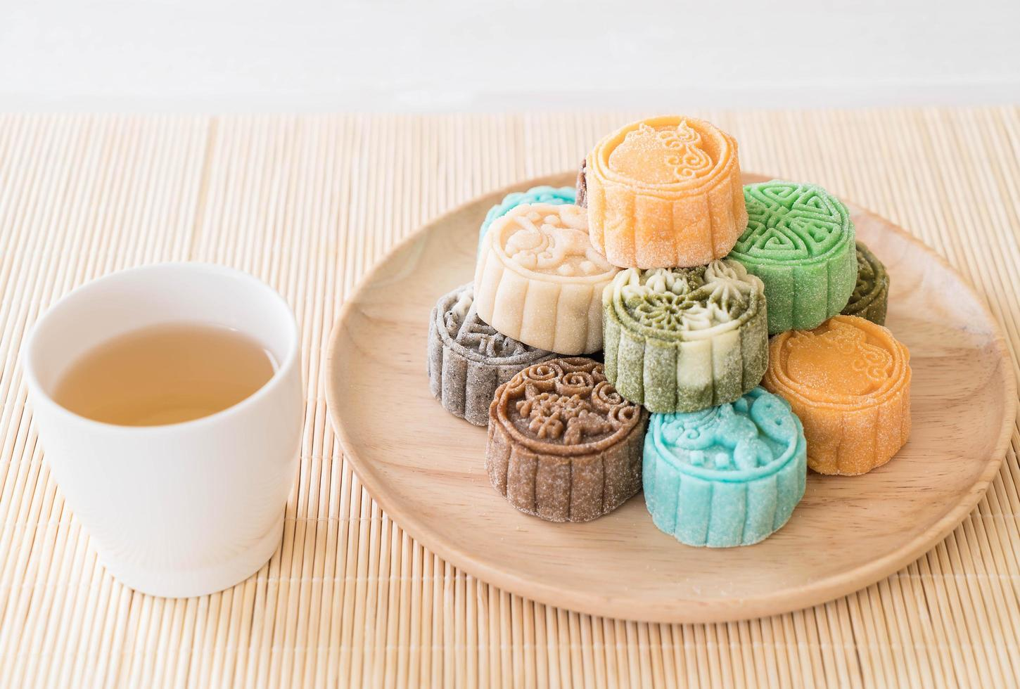 Fresh moon cakes photo