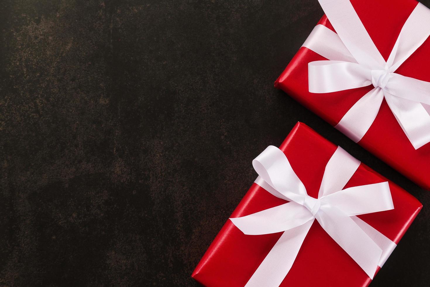 cajas de regalo de navidad foto