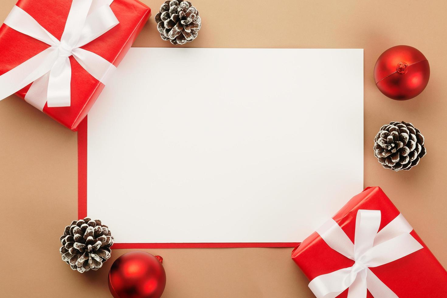Merry Christmas greeting card mockup photo