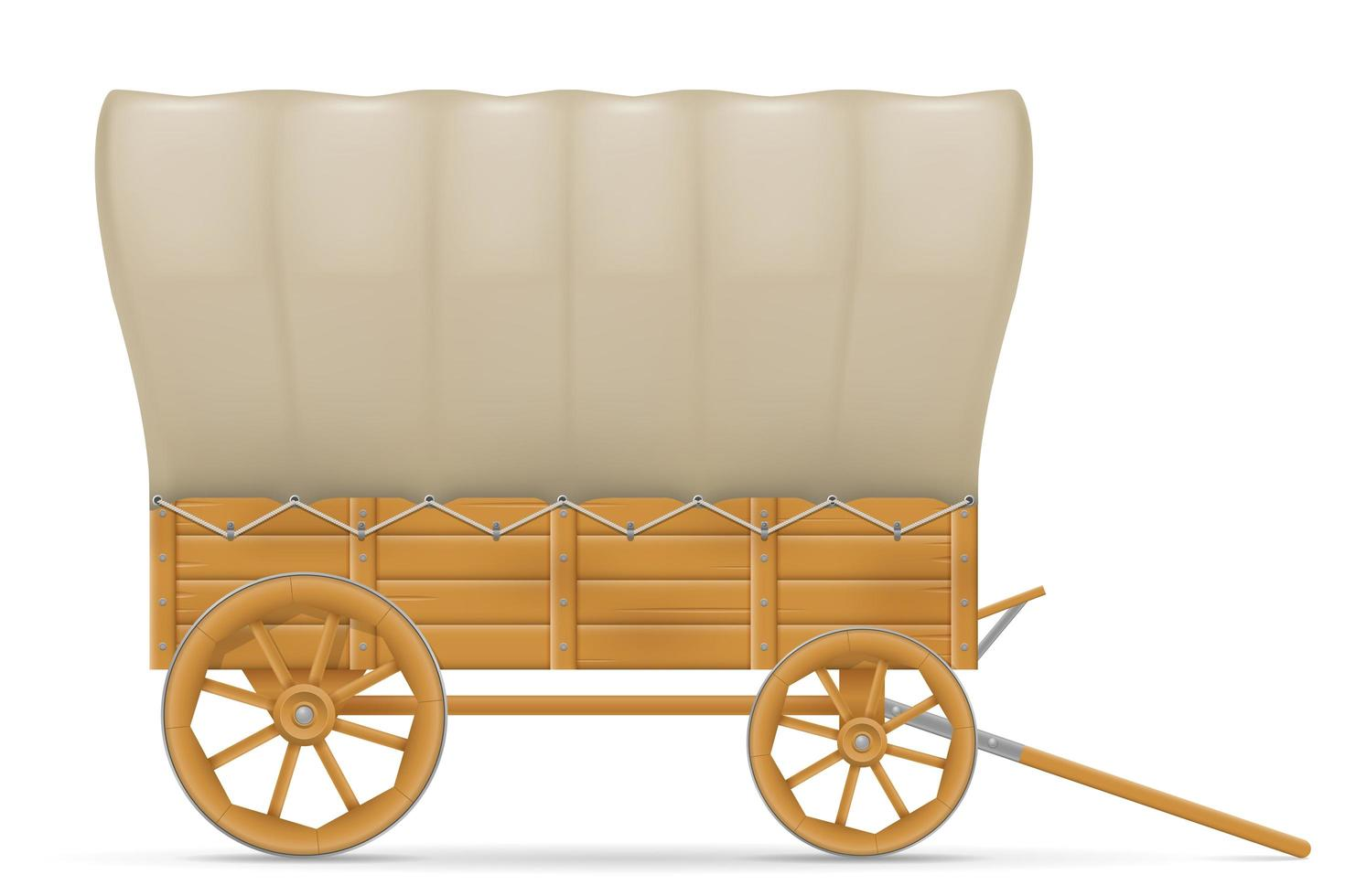 Wooden wagon of the wild west vector
